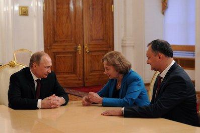 Игорь Додон и Зинаида Гречаный встретились с Владимиром Путиным (видео)