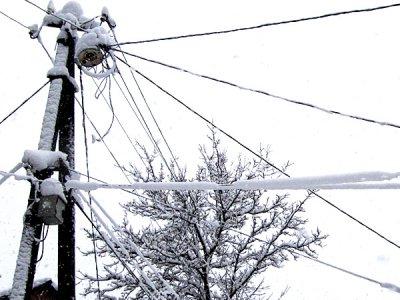 Снегопад оставил без света четыре населенных пункта страны