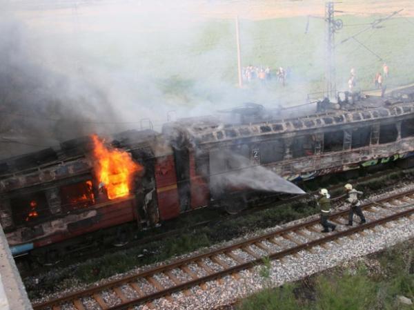 Пассажирский поезд Кишинев-Унгены загорелся