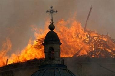Пожар уничтожил церковь Святых Архангелов Михаила и Гавриила в Теленештах