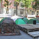Палатки вблизи дома Плахотнюка хотят демонтировать