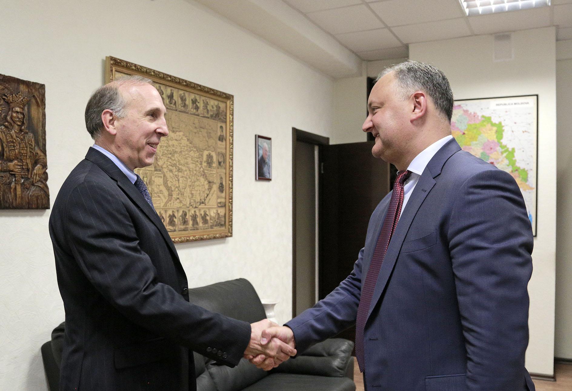 Игорь Додон – послу США: Часть вины за катастрофическую ситуацию в РМ несут и партнеры по развитию Молдовы