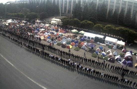 В Кишиневе проходит масштабный антиправительственный митинг