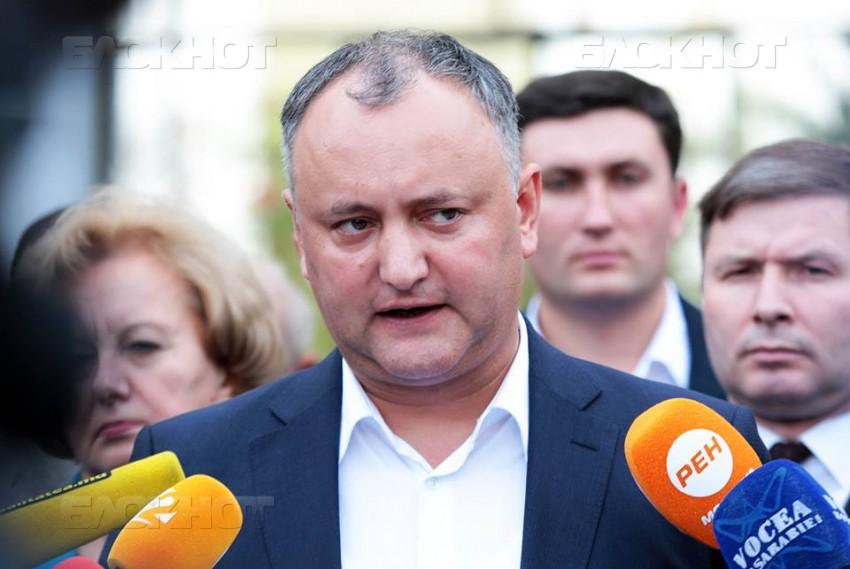 Опрос: Граждане РМ готовы выбрать Игоря Додона новым президентом страны