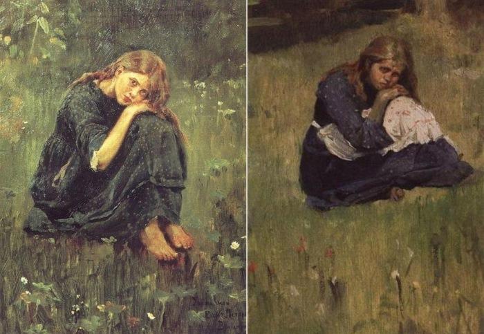 Виктор Васнецов. Этюды к картине «Аленушка», 1881
