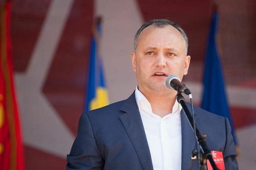 Кандидат от ПСРМ Игорь Додон представляет свою политическую программу на посту президента РМ
