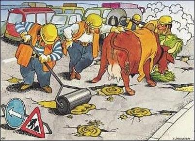 И даже ямы на дорогах латать больше не будут