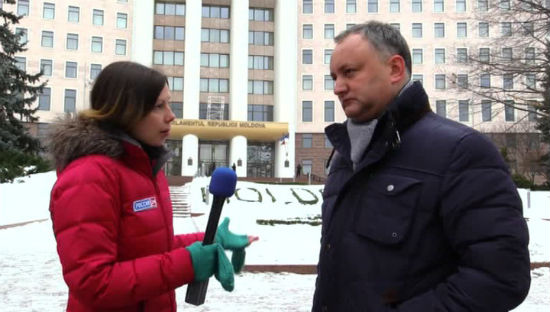 Игорь Додон выступил в эфире телеканала Россия 24