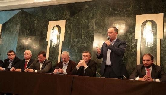 Додон на «Гражданском форуме»: Мы объединились против олигархов и ради будущего нашей страны
