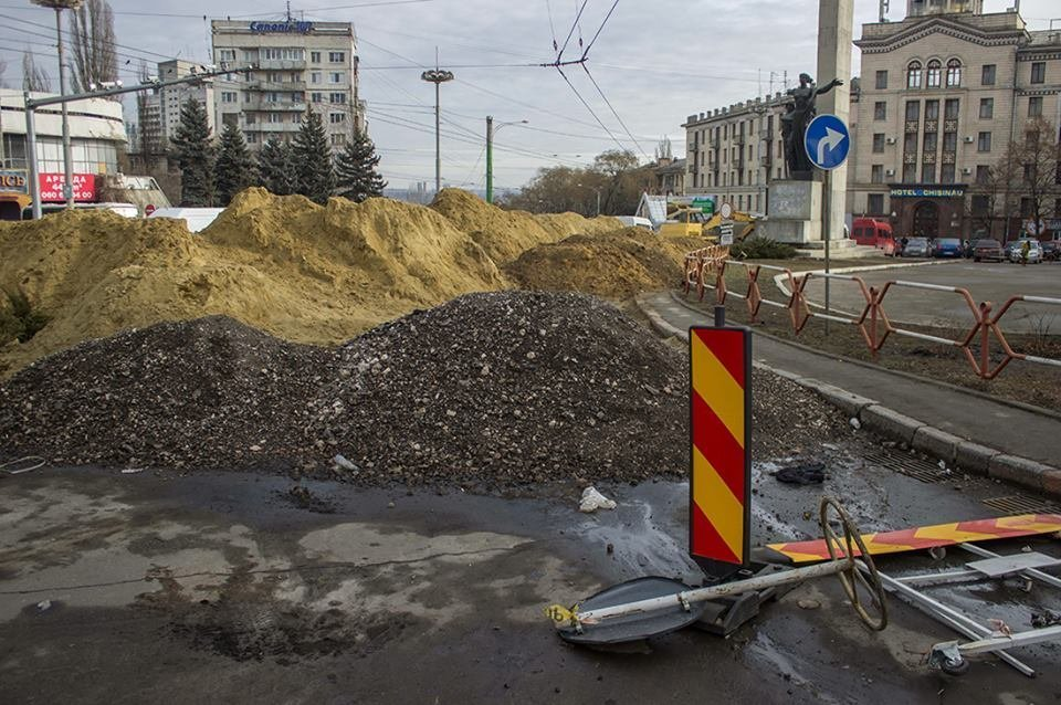 Ремонт центра Кишинёва не завершится и в 2016 году