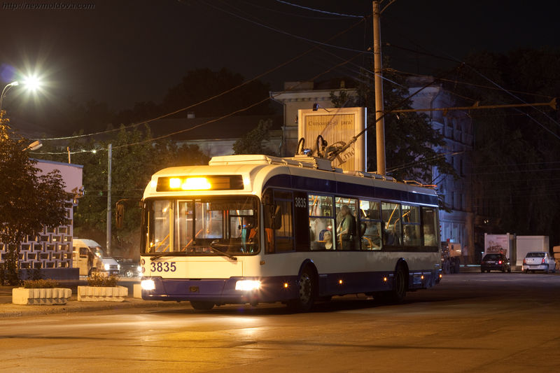 Кишинёвские троллейбусы будут работать до 2-х часов ночи