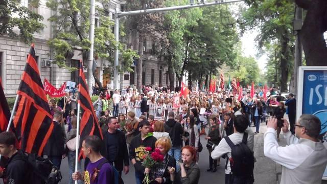 Многотысячный Марш Победы прошёл в Кишиневе