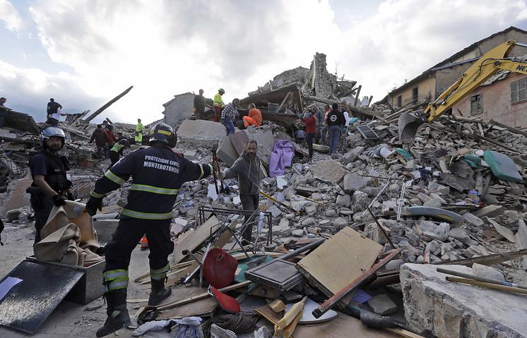 землетрясение в Италии 01