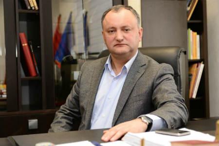 Президент Республики Молдова Игорь Додон: «Граждане не должны платить за преступления, совершенные правительством»