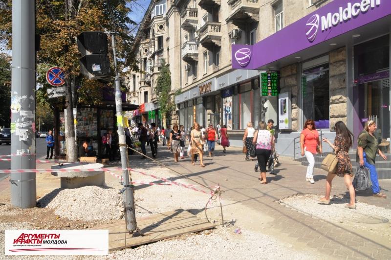 Пизанский светофор… в центре Кишинёва
