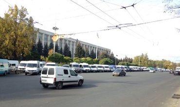 Протест водителей на площади Великого Национального Собрания