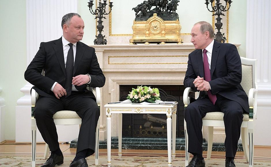 Пресс-конференция президентов России и Молдовы