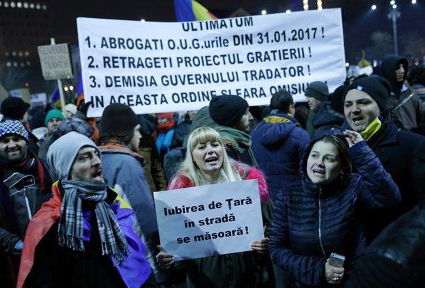 В Румынии массовый протест перерос в столкновения с полицией