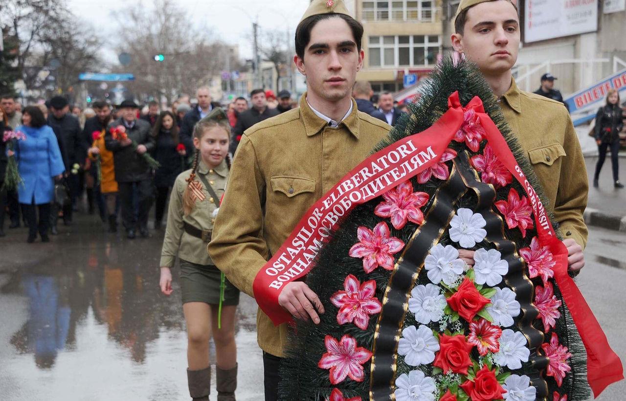 В Бельцах прошел марш в честь освобождения города