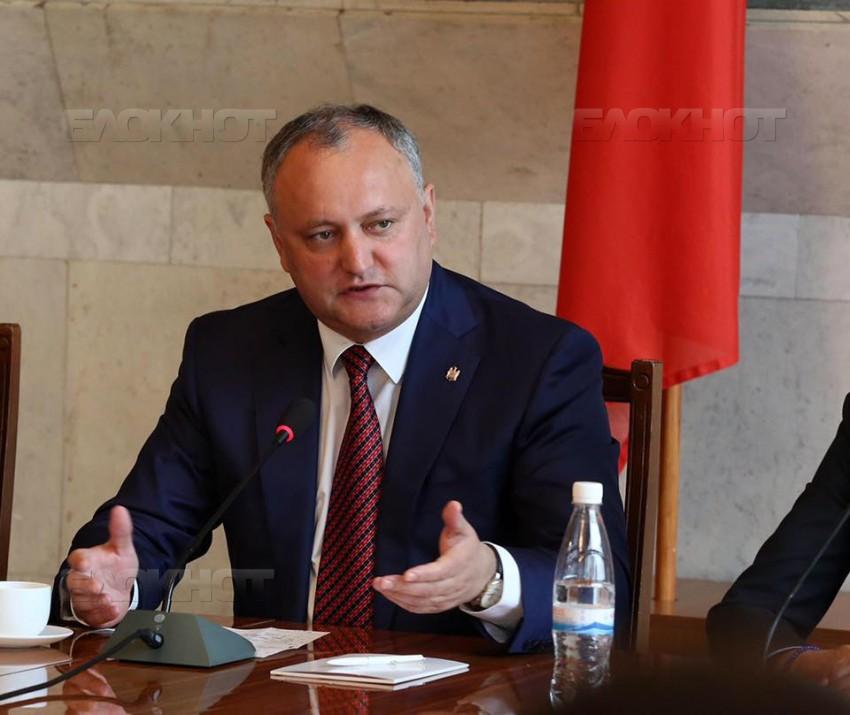 Президент Игорь Додон провел встречу с аккредитованными в Республике Молдова послами