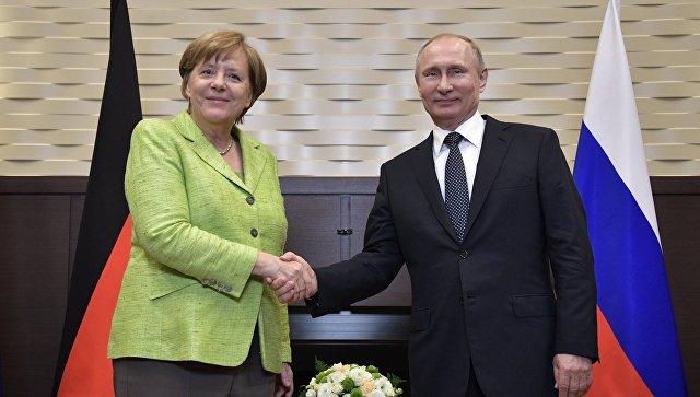 На совместной пресс-конференции Путин и Меркель подвели итоги переговоров в Сочи