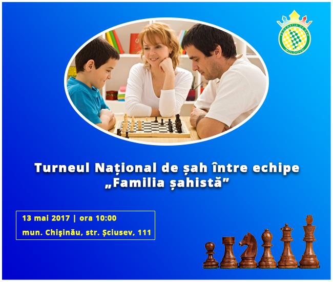 Национальный турнир «Шахматная семья» пройдет в Кишиневе