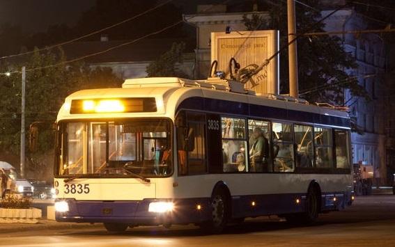 Ночные троллейбусы в Кишиневе отныне будут ездить всегда