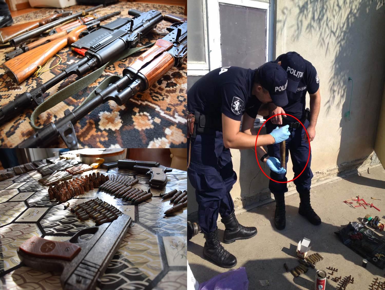 «Начиненный» оружием дом обнаружила полиция в Яловенах (ВИДЕО)