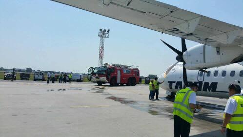 Самолет Бухарест-Кишинев срочно вернулся обратно спустя 20 минут после вылета