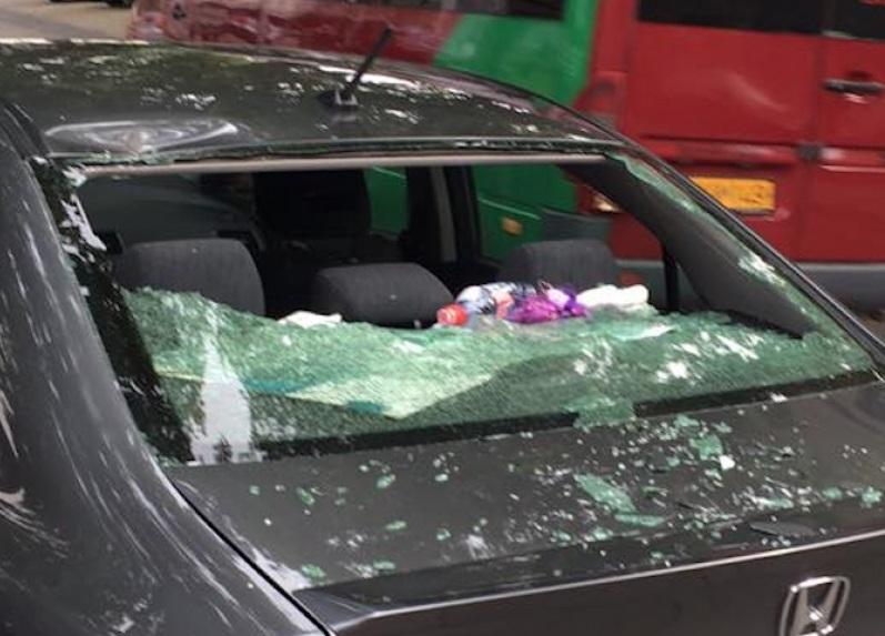 Упавшая ветка повредила автомобиль в центре Кишинева (ФОТО)