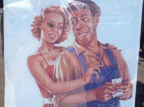 Реклама мороженого в стиле пин-ап развеселила жителей Чимишлии (ФОТО)