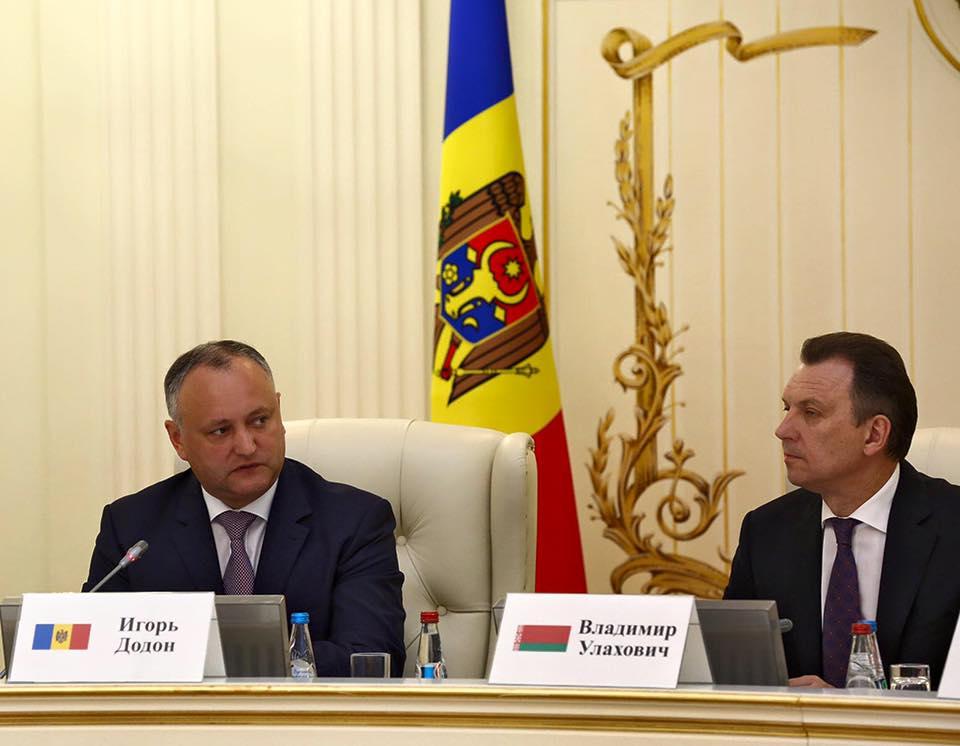 Увеличить товарооборот между Молдовой и Беларусью до 400 миллионов долларов намерен Игорь Додон