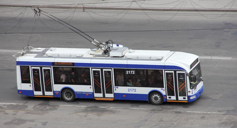 Троллейбус до аэропорта пользуется повышенным спросом