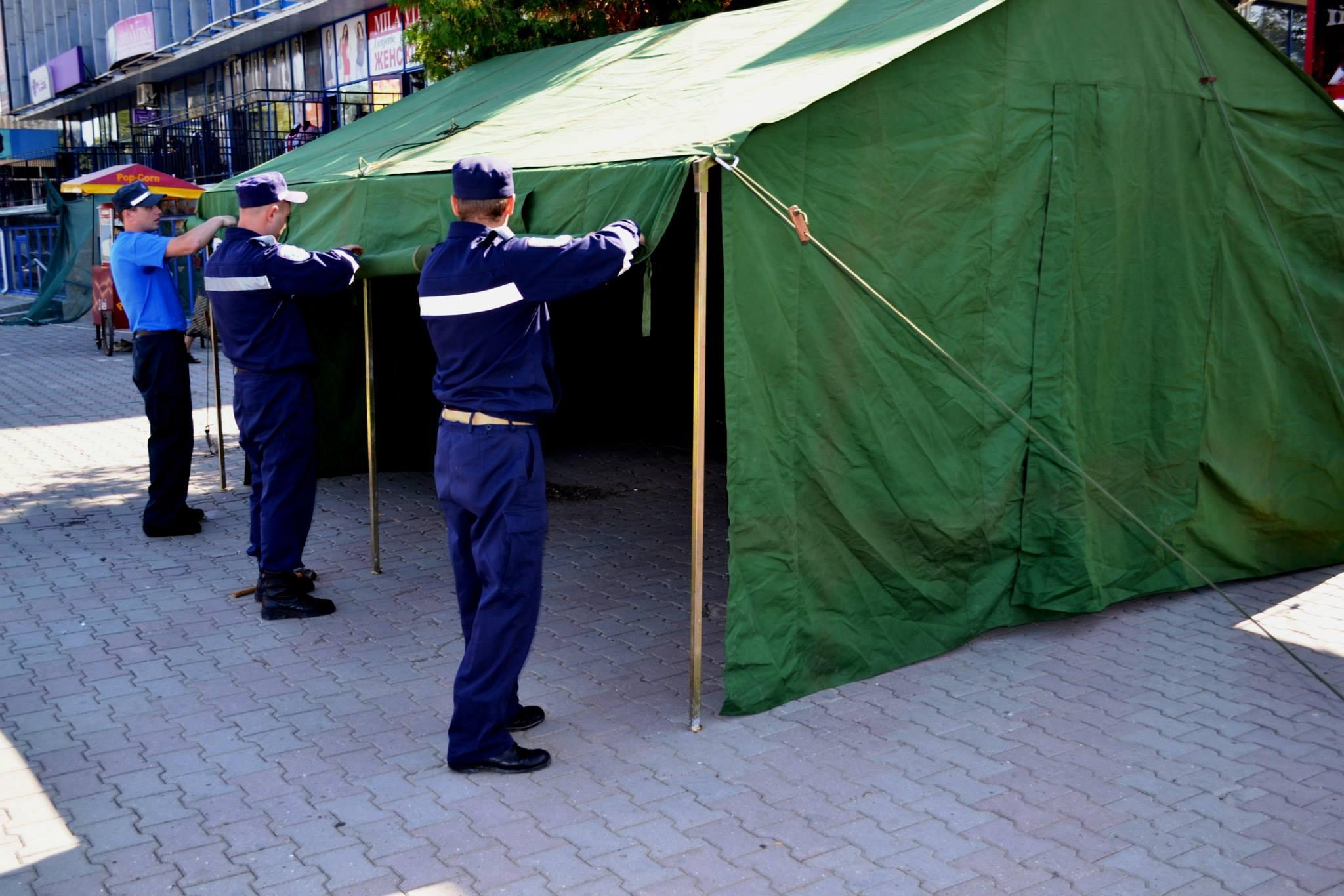 Число палаток первой помощи в Кишиневе будет удвоено