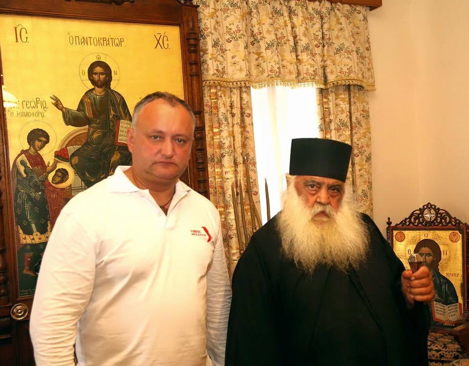 Додон примет участие во Всенощном бдении в Свято-Пантелеймоновом монастыре на Афоне