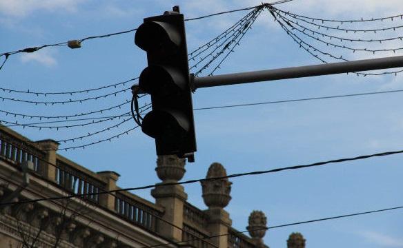 На двух оживлённых перекрёстках столицы не работают светофоры