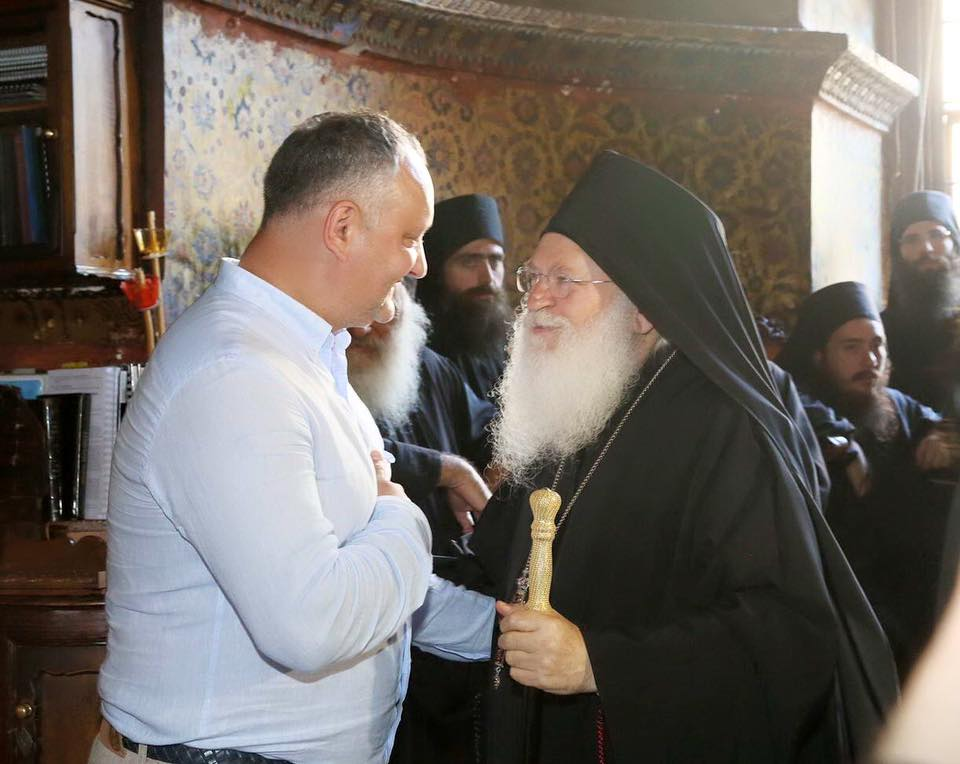 Встреча по византийским традициям в Ватопедской обители поразила Игоря Додона (ФОТО)