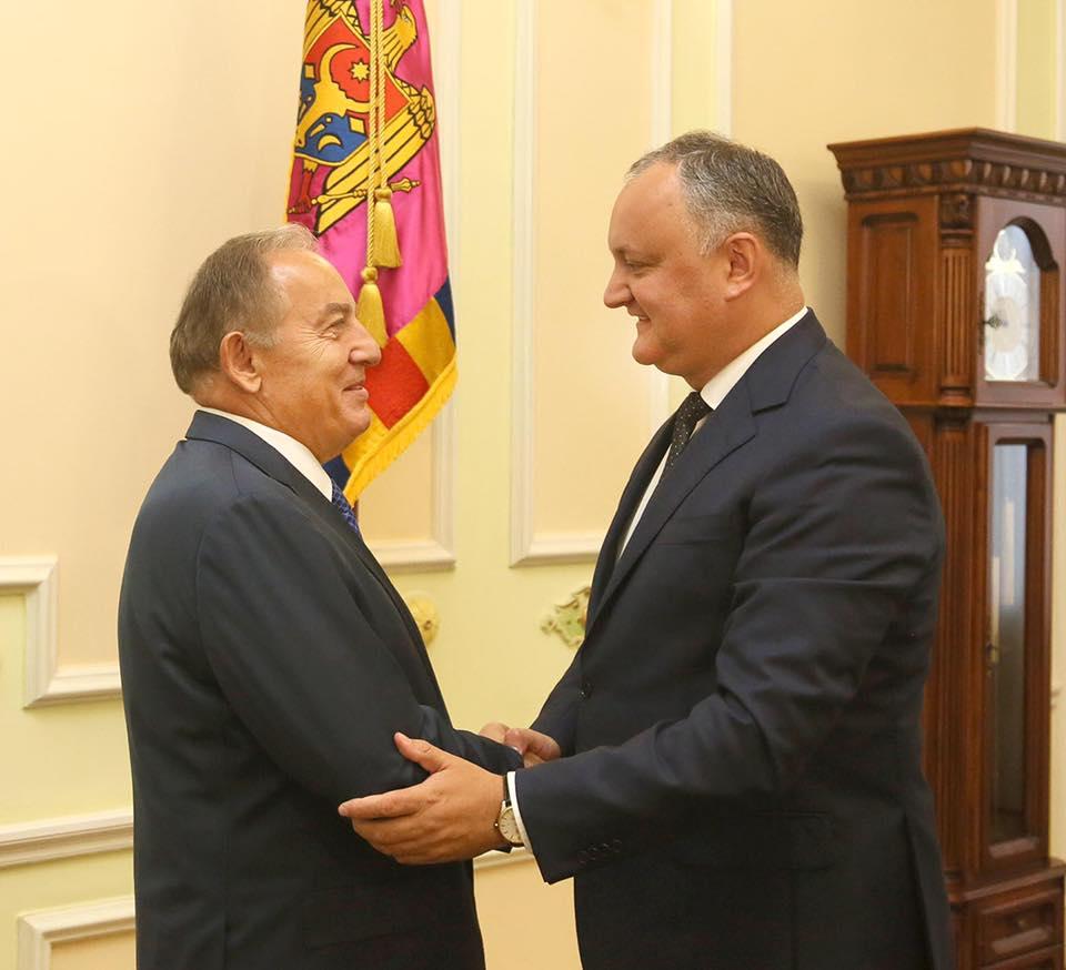 Додон обсудил с послом Турции предстоящий визит Эрдогана в Молдову