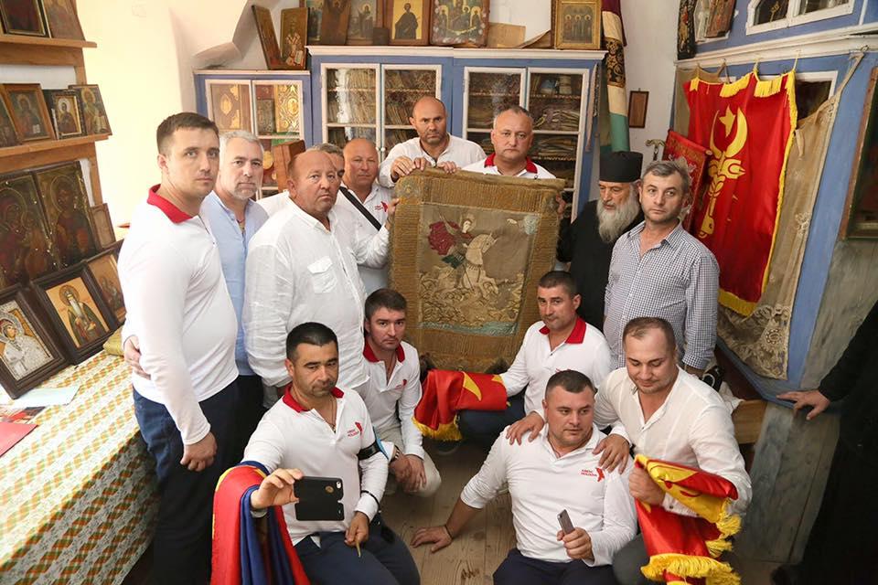Святой для всех молдаван монастырь Зограф посетил Игорь Додон (ФОТО)