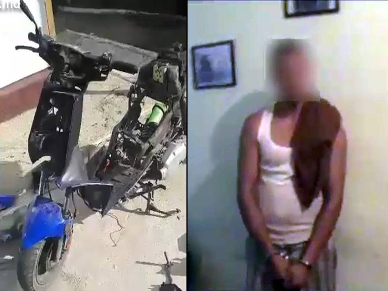 В Кишиневе молодой человек украл скутер и намеревался продать его на запчасти (ВИДЕО)