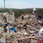 Опубликовано видео обломков дома, в котором от взрыва погиб ребенок