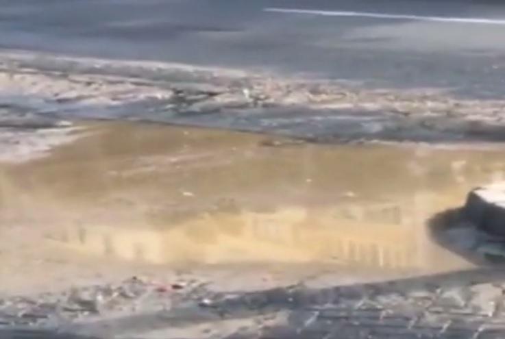 На Московском проспекте стоит невыносимая вонь из-за прорвавшей канализации (ВИДЕО)