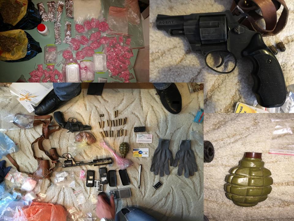 Внушительные объемы наркотиков и нелегальное оружие обнаружены у столичных драгдилеров (ВИДЕО)