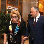 Матвиенко – Додону: Улучшение отношений Молдовы и России – ваша огромная заслуга (ВИДЕО)