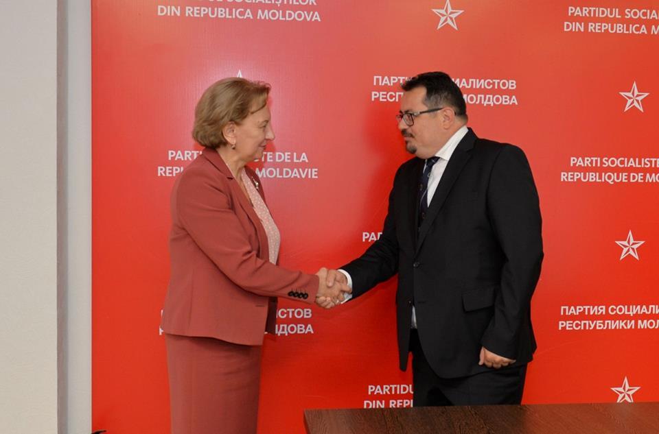 Зинаида Гречаный обсудила политическую ситуацию в Молдове с новым послом ЕС