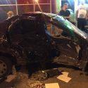 В аварии с участием учебного автомобиля столичной автошколы серьезно пострадал водитель (ФОТО)