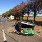 В результате серьезного ДТП на юге страны перевернулась машина (ФОТО)