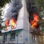 Пожар в центре столицы: горит жилой дом (ВИДЕО)