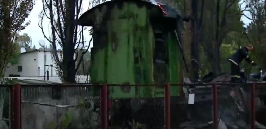 В Стрэшенах загорелся товарный вагон