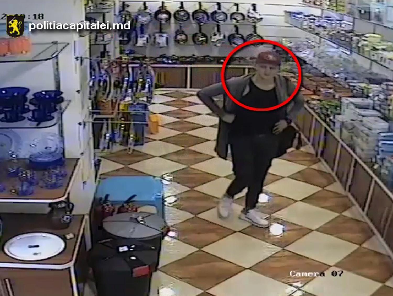 Любитель бритв и маникюрных наборов разыскивается полицией Кишинева (ВИДЕО)